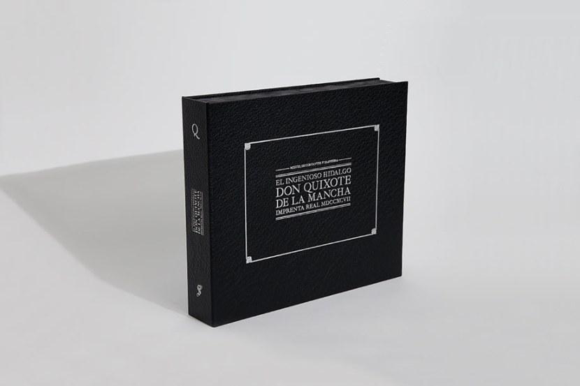 Libro Quijote Imprenta Real 1797 de Summa Editorial. Editoriales que destacan por el diseño de sus libros. La Gauss