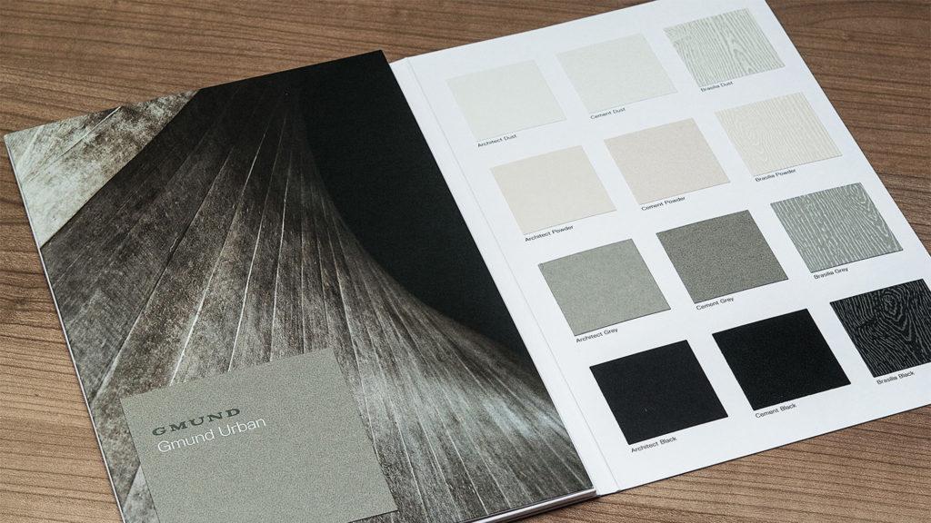 Catálogo de la marca de papel Gmund