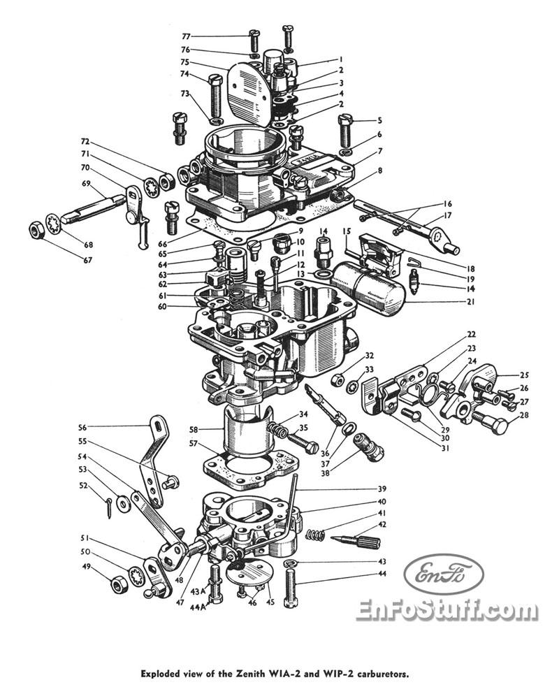 Nikki Carburetor Exploded View Diagram, Nikki, Free Engine
