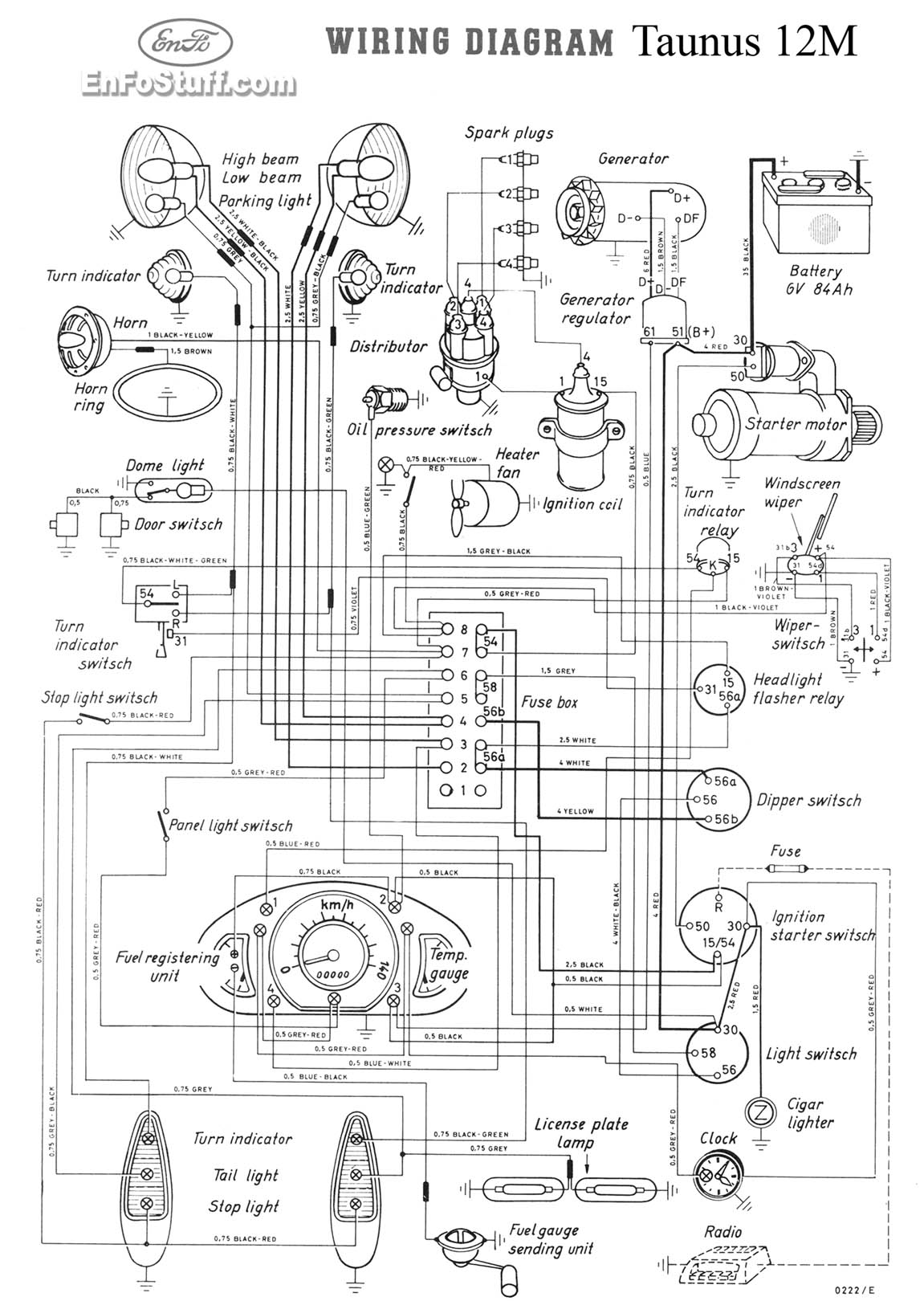 wiring diagram for ford consul cortina