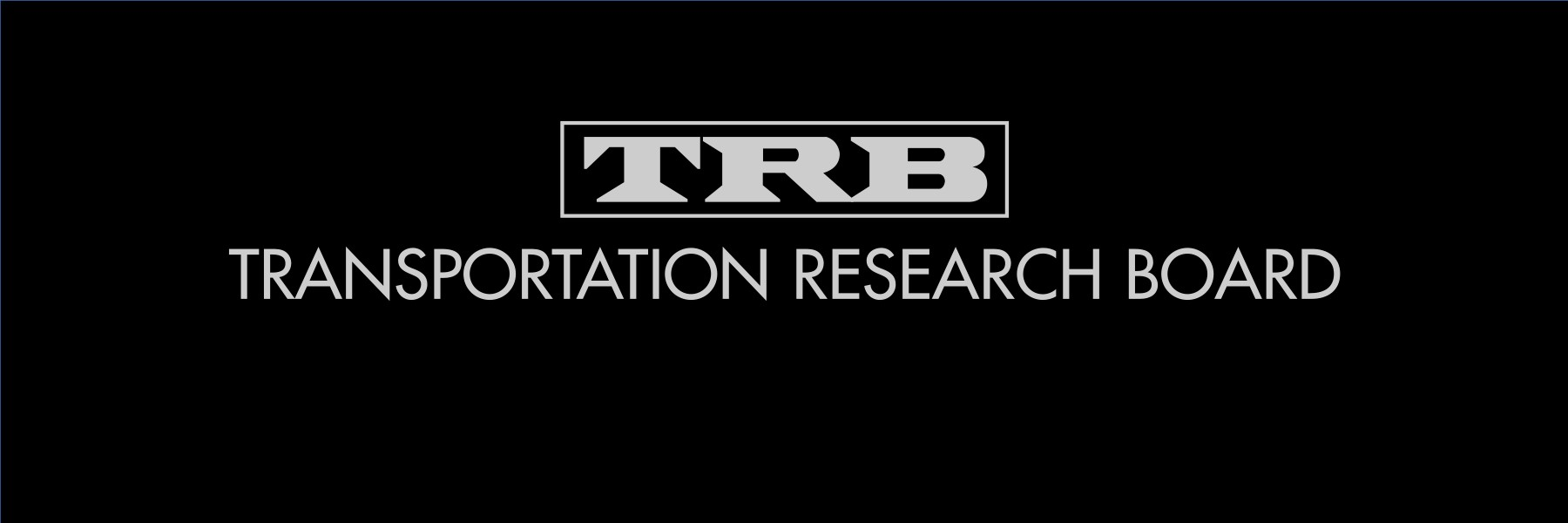 White TRB logo on black.