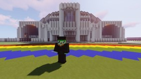 Screenshot of graduate on Ching Field in Minecraft.