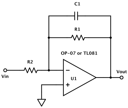 small resolution of op amp lowpass filter