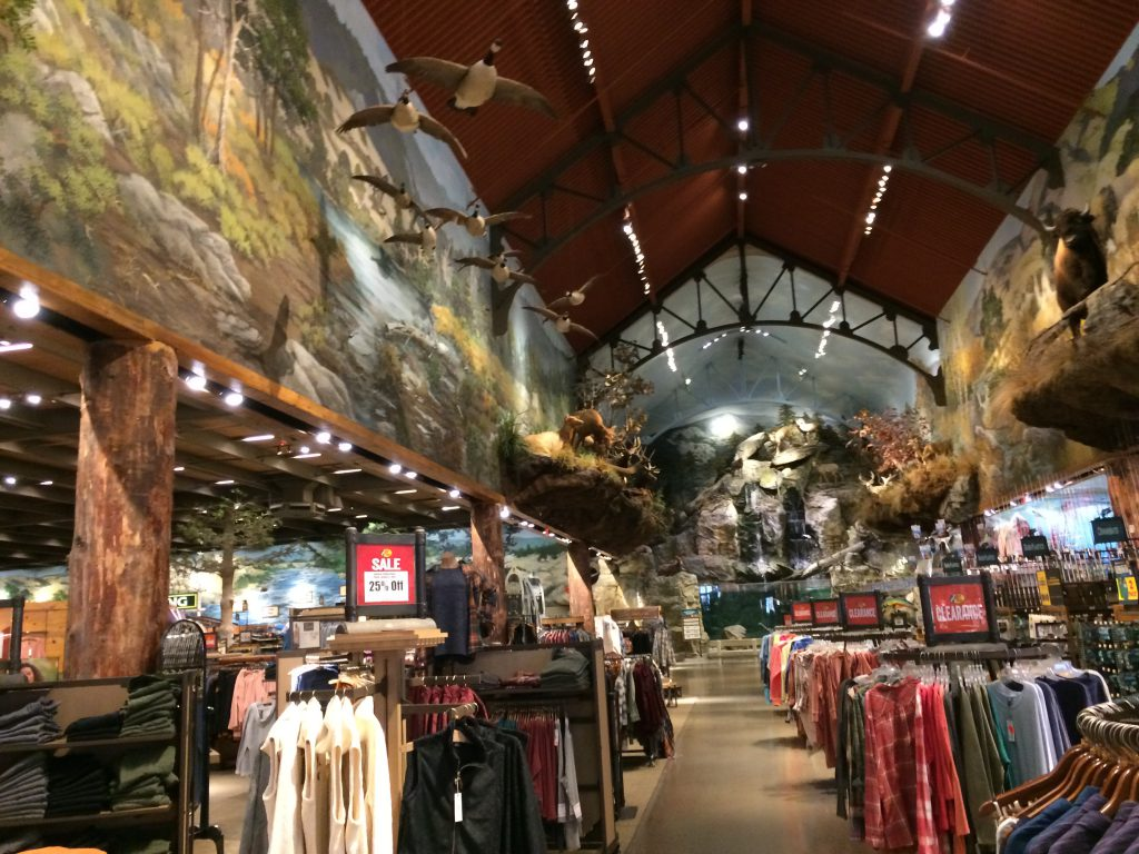 Main aisle in Bass Pro