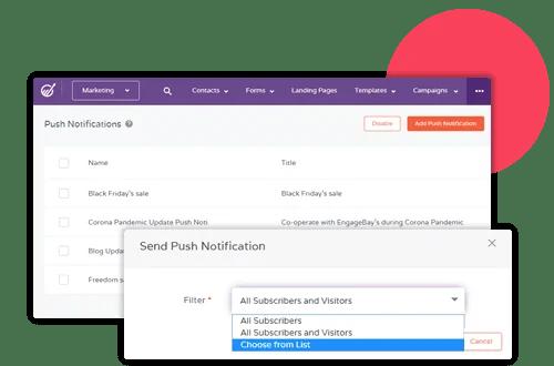 push notifications  engagebay