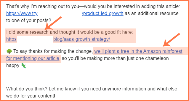 cold introduction email example wrapup