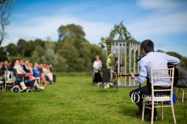 garden wedding in Ireland