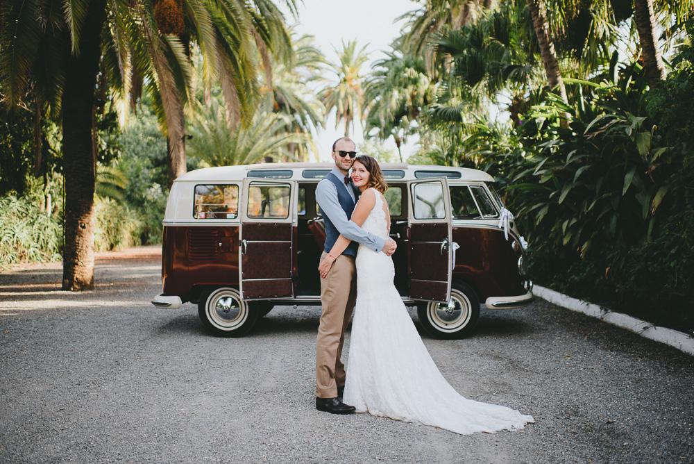 Camper van wedding