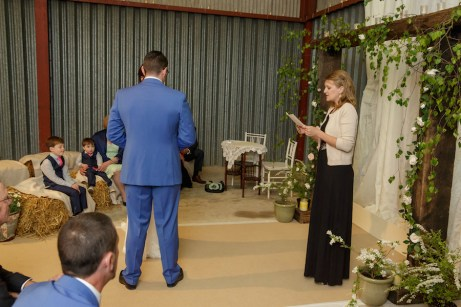 Alex and Emma farm wedding ceremony
