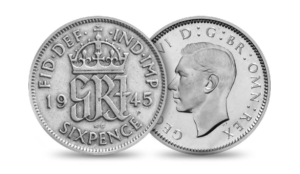 Vintage Silver Six pence - Royal mint