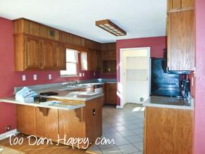 Oak kitchen mauve walls before wm