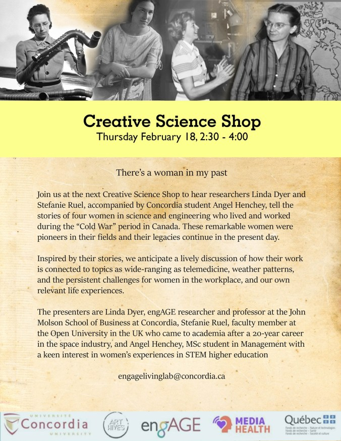 CSS Poster depicting 4 important women on the STEM field