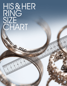 Wedding bands and engagement ring with ruler also size chart figure out her rh engagementexperts