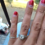 Aly Michalka's 3.5 Carat Princess Cut Diamond Ring