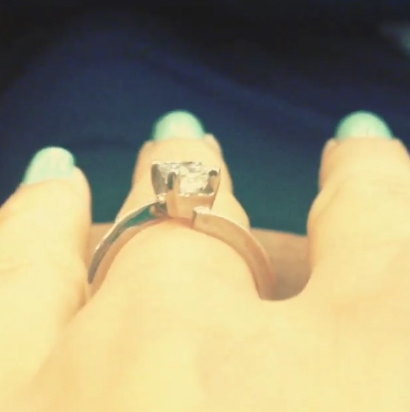 Jessa Duggars 075 Carat Princess Cut Diamond Ring