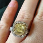 Kelly Clarkson's 5 Carat Yellow Canary Diamond Ring