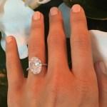 Julianne Hough's 7 Carat Oval Diamond Ring
