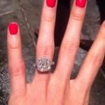 Katherine Webb's Platinum 5 Carat Cushion Cut Diamond Ring