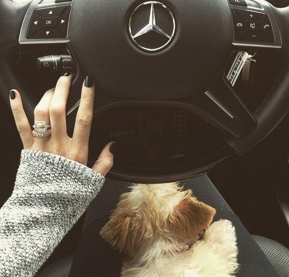 Katherine Webbs Platinum 5 Carat Cushion Cut Diamond Ring