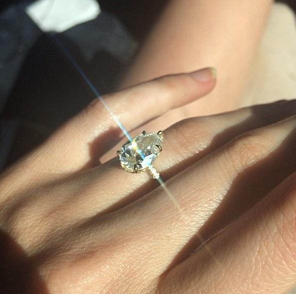 Karat Pear Shaped Engagement Ring