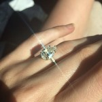Nicole Trunfio's Pear Shaped 3 Carat Diamond Ring