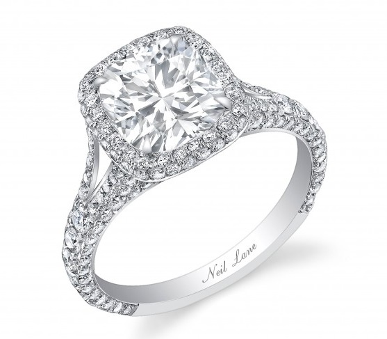 Catherine Giudicis 3 Carat Cushion Cut Diamond Ring