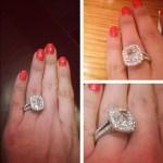Elaine Alden's 4 Carat Cushion Cut Diamond Ring