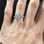 Katie Piper's Double Halo Brilliant Cut Diamond Ring