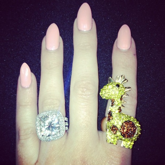 Khloe Kardashians 125 Carat Radiant Cut Diamond Ring