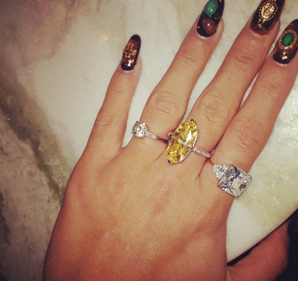 Lily Allen S Round Brilliant Cut Diamond Ring