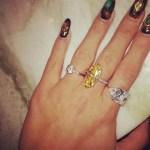 Lily Allen's Round Brilliant Cut Diamond Ring