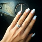 Sasha Clements' Brilliant Round Cut Diamond Ring