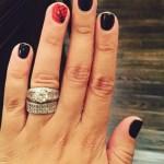 Tia Mowry's 1.5 Carat Round Cut Diamond Ring
