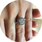 Annie Coggeshall's Square Cut Diamond Ring