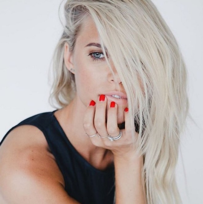 Lauren Scruggs' Radiant Cut Cushion Shaped Diamond Ring