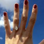 Lindsay Arnold's Pear Shaped Diamond Ring