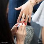 Molly Sims' Cushion Cut Diamond Ring