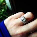 Kara Keough's Cushion Cut Diamond Ring