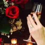Perrey Reeves' Pear Shaped Yellow Diamond Ring