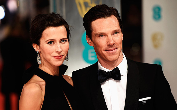 EE British Academy Film Awards 2015 - Red Carpet Arrivals...LONDON, ENGLAND - FEBRUARY 08: Sophie Hunter and Benedict Cumberbatch attend the EE British Academy Film Awards at The Royal Opera House on February 8, 2015 in London, England. (Photo by Ian Gavan/Getty Images)