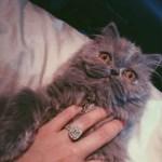 Aaryn Gries' 1.6 Carat Cushion Cut Diamond Ring