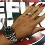 Arina Rodionova's Round Diamond Ring