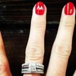 Jarmila Gajdosova's Princess Cut Diamond Ring