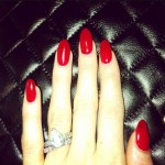 Abbey Clancy's Pear Shaped Diamond Ring