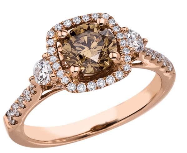 Brown-diamond-in-rose-gold-ring-setting