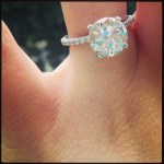 Jaime Lynn Spears' 4 Carat Round Cut Diamond Ring