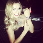 Katherine Jenkins's Oval Cut Diamond Ring