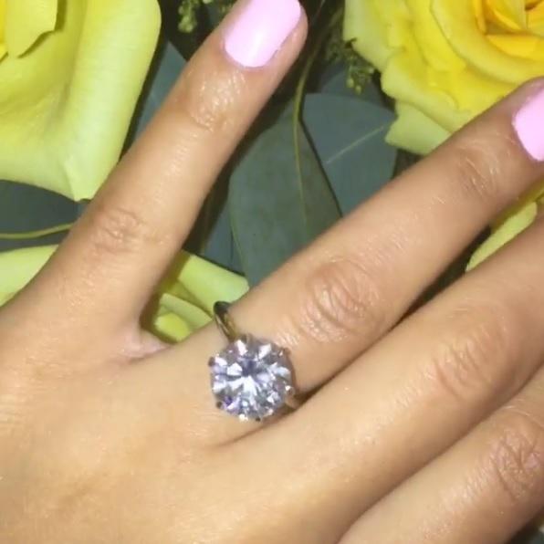 Angela Simmons' Round Cut Diamond Ring