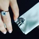 Emmy Rossum's Round Cut Ring