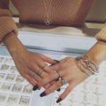 Maripier Morin's Square Shaped Diamond Ring